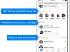 'Messenger', do Facebook, passa a exibir amigos favoritos e aniversários