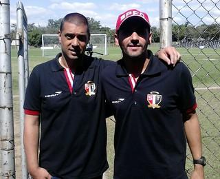 Marcelo Frigerio e Claudio Almeida São Paulo Futebol Feminino (Foto: Felipe Kyoshy)