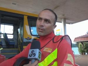 Antônio Vianes diz que ficou surpreso com situação da estrada (Foto: Reprodução/TV Amapá)