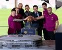 Com Messi no palco e maquete, Barça apresenta projeto do novo Camp Nou
