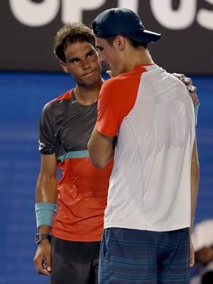 tênis rafael nadal bernard tomic aberto da austrália (Foto: AP)
