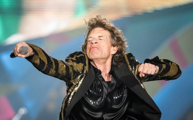 O superastro Mick Jagger durante o segundo show dos Rolling Stones, em São Paulo (Foto: Fábio Tito/G1)
