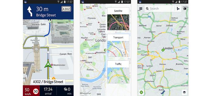 App de mapas Here, com conteúdo off-line, chega somente para aparelhos Samsung (Foto: Reprodução/Samsung Galaxy Apps)