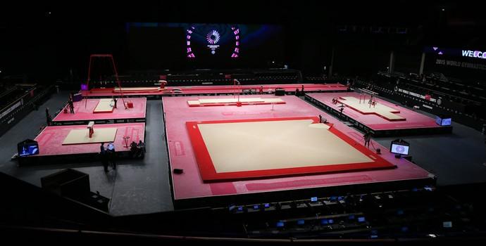 Hydro Arena é o palco do Mundial de ginástica artística (Foto: Ricardo Bufolin/CBG)