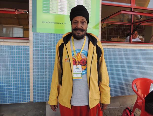 Mundial de Atletismo Master indiano Ajmer Singh (Foto: Paula Menezes/Globoesporte.com)