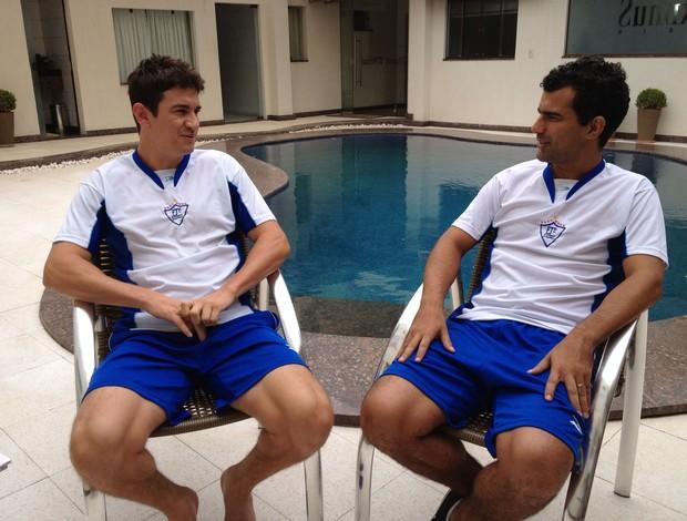 Jogadores do Ji-Paraná mostram confiança antes do primeiro jogo da final do estadual (Foto: Shara Alencar/GLOBOESPORTE.COM)
