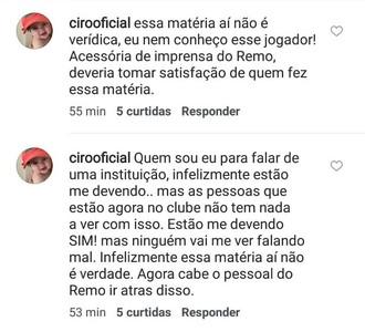 Ciro se defende na internet (Foto: Reprodução/Instagram)