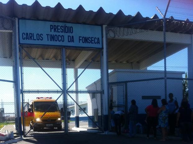 Presídio Carlos Tinoco da Fonseca, em Campos (Foto: Priscila Alves / G1)