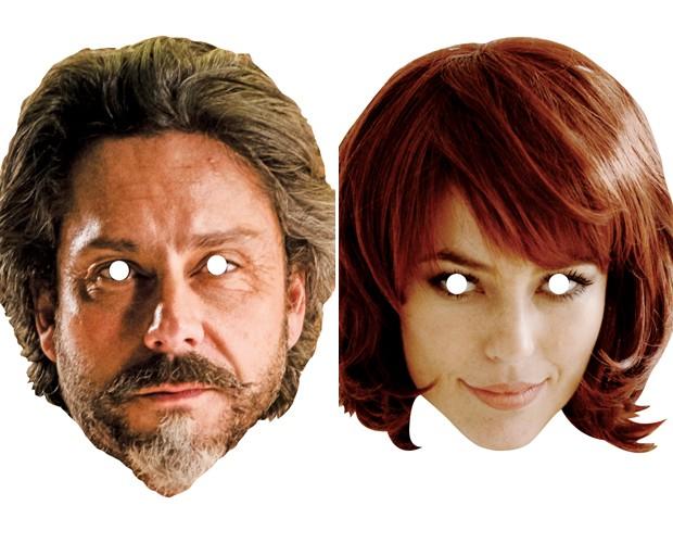 Faça download das máscaras do Comendador e da Danny Bond (Foto: Gshow)