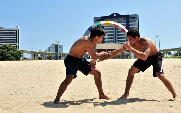Beach Wrestlin manaus amazonas (Foto: Cleilton Viana/Sejel)