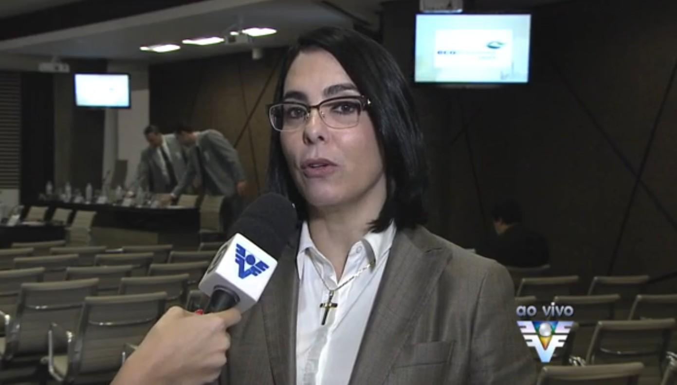 Prefeita de Cubatão Márcia Rosa (Foto: Reprodução/TV Tribuna)