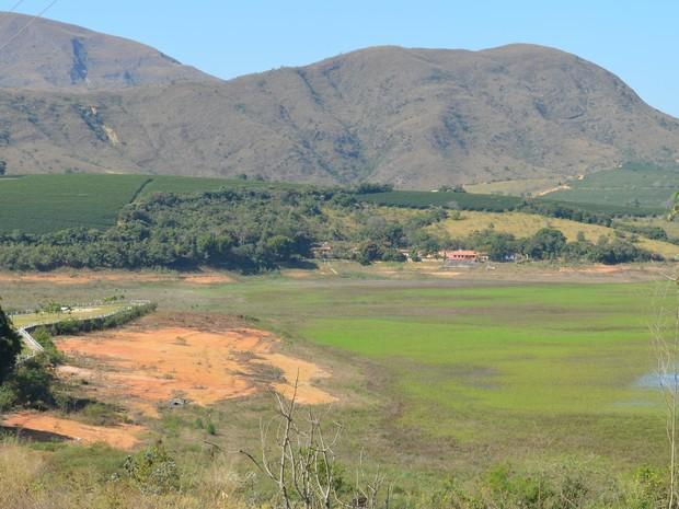 Pontal da pousada em Carmo do Rio Claro registrada em agosto de 2015 - Furnas (Foto: Samantha Silva / G1)