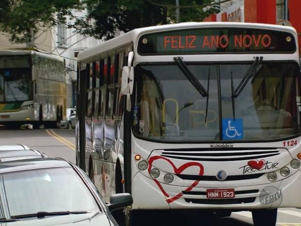 Passagem de ônibus urbanos em cidades do Sul de Minas foram reajustadas em 1º de janeiro (Foto: Reprodução EPTV)