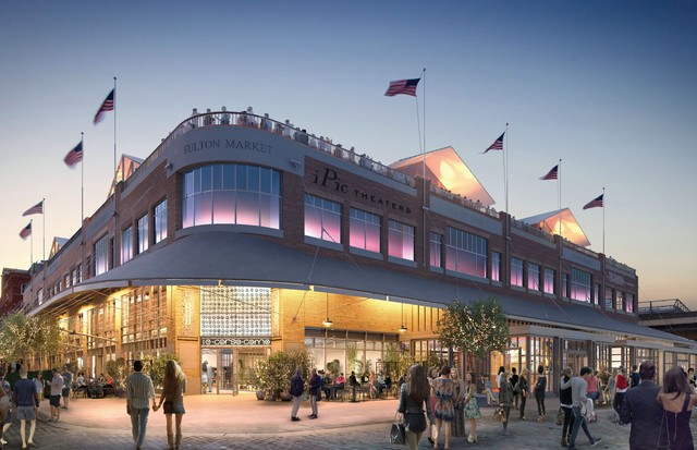 Architect's rendering of the Fulton Market development in the Seaport district, with the future 10 Corso Como store, set to open mid-2018 (Foto: THE HOWARD HUGHES CORPORATION)