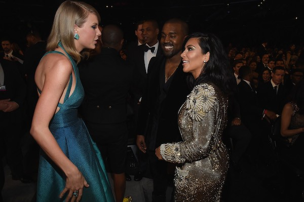 Taylor Swift, Kanye West e Kim Kardashian (Foto: Getty Images)