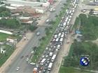 Movimento de saída de Belém é intenso na BR-316, no Pará