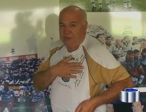 Beto Leão, torcedor do Bragantino (Foto: Reprodução/ TV Vanguarda)