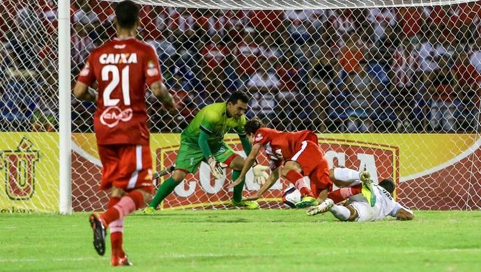 Chico, gol no jogo CRB x Murici (Foto: Ailton Cruz / Gazeta de Alagoas)