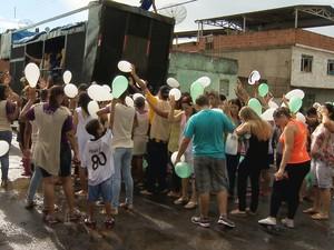 Manifestação São Benedito Juiz de Fora (Foto: Reprodução/TV Integração)