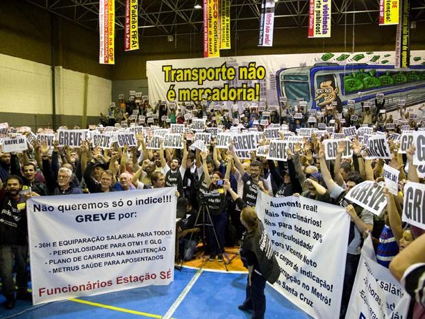 Metroviários decidiram pela greve nesta quarta-feira (Foto: Paulo Lopes/Futura Press/Estadão Conteúdo)