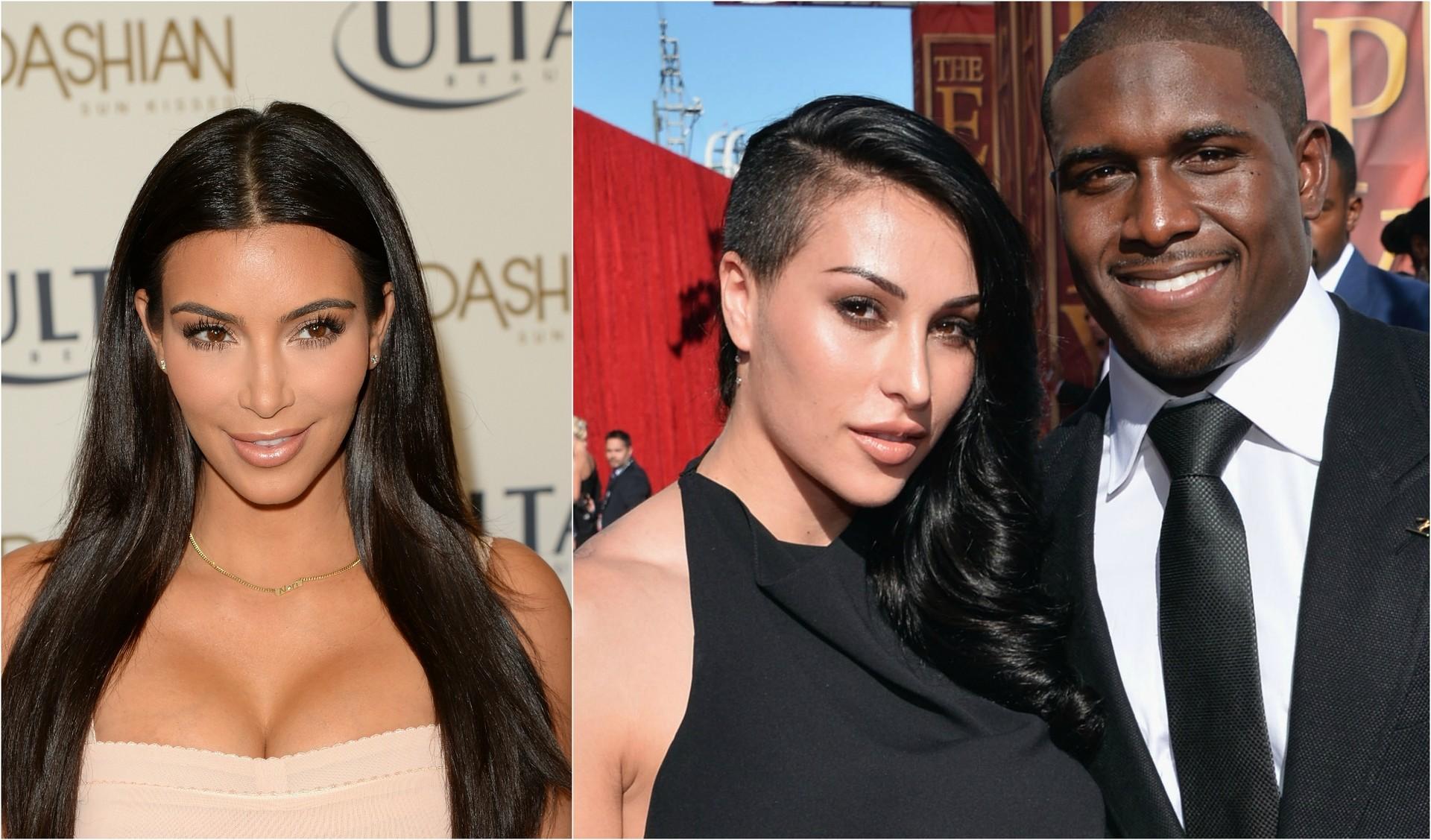 O jogador de futebol americano Reggie Bush já namorou com Kim Kardashian. Em seguida, se envolveu com uma mulher idêntica à socialite, e que também tem origem armênia: Lilit Avagyan. Eles se casaram neste ano e têm uma filhinha. (Foto: Getty Images)