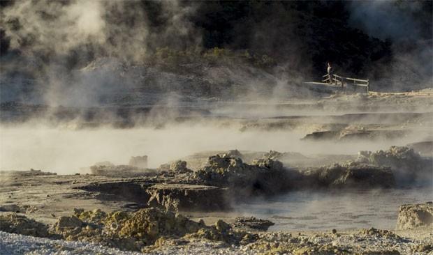 O parque geotermal de Hells Gate, em Rotorua, na Nova Zelândia (Foto: Divulgação/Hells Gate)
