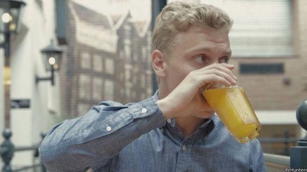 Harland só podia tomar sucos naturais, já que os industrializados têm muita adição de açúcar  (Foto: LifeHunters)