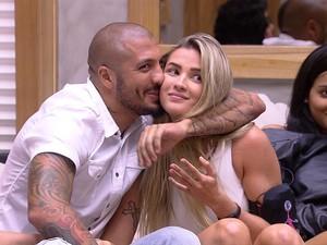 BBB às 23h03m do dia 17/02. (Foto: Big Brother Brasil)