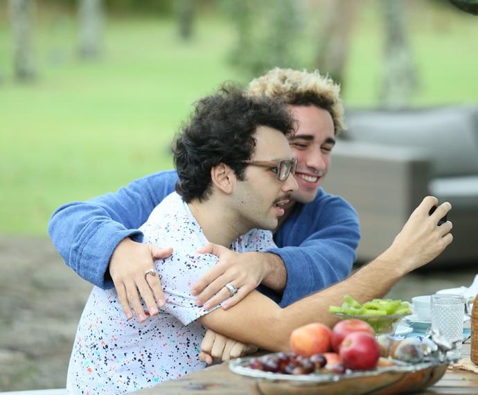 Raphael Ghanem e Giuliano Laffayette gravaram juntos em Angra dos Reis (Foto: Isabella Pinheiro/Gshow)