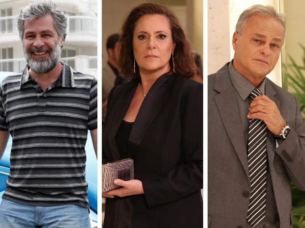 O trio mais surpreendente: Tina e seus dois maridos (Foto: Carol Caminha/Fábio Rocha/Gshow)