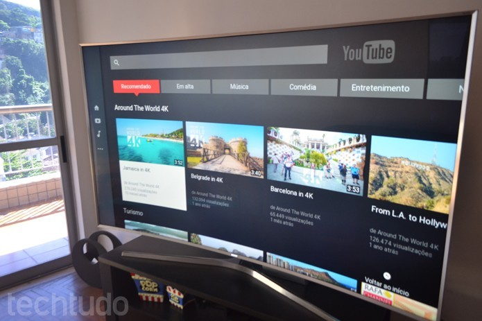 Suporte a codecs H.265 e VP9 otimiza transmissão de vídeos 4k (Foto: Melissa Cruz/TechTudo)
