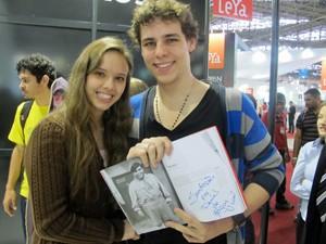 Daniel Simioni e a namorada, Roselaine Pelizzer (Foto: Giovana Sanchez/G1)