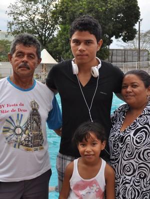 Denilson Oliveira não vai contar com o apoio da família na tentativa de quebra de recorde (Foto: Renan Morais/GLOBOESPORTE.COM)