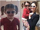 Pequena perua: filha de Kaká faz pose com óculos escuros de coração