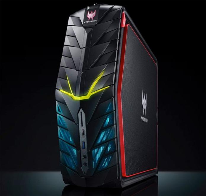 Desktop Predator G1 tem LEDs que permitem customização do PC (Foto: Divulgação/Acer)