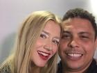 Ronaldo vai ao SPFW conferir desfile da namorada Celina Locks