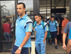 Palmeiras chegada a Prudente (Foto: Murilo Rincon / GloboEsporte.com)