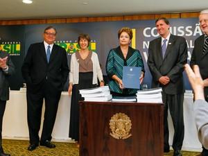 Presidenta Dilma Rousseff durante entrega do Relatório Final da Comissão Nacional da Verdade. (Brasília - DF, 10/12/2014) (Foto: Roberto Stuckert Filho/PR)