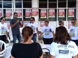 Servidores do INSS acompanham comando de greve nacional (Foto: Arquivo pessoal/ Luis Fellipe Souza)