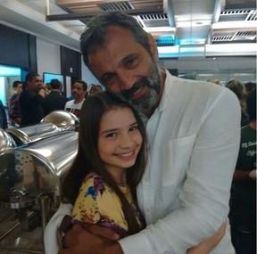 Milena Melo com Domingos Montagner nos bastidores de Sete Vidas (Foto: Reprodução/Instagram)