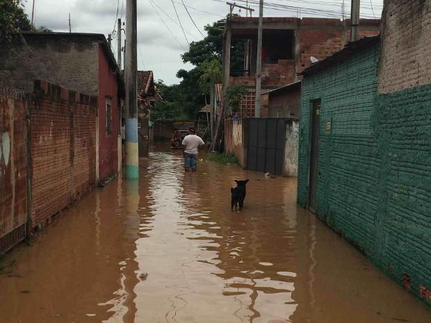 Chuva em Canas (Foto: Arquivo Pessoal)
