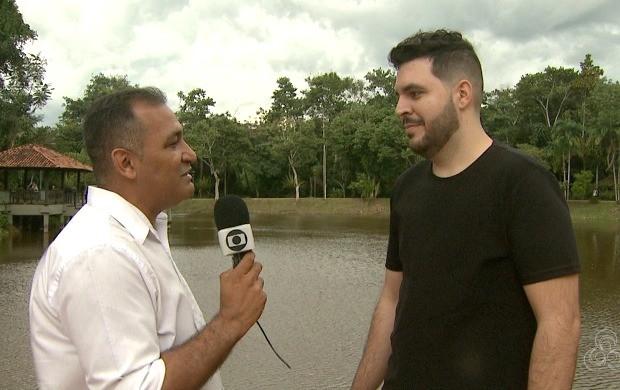 Cantor Allan Zamot contou como são produzidos os clipes para as redes sociais (Foto: Bom Dia Amazônia)
