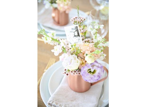 5-ideias-para-comemorar-dia-das-maes-buque-com-fotos-e-flores-pinterest (Foto: Pinterest)