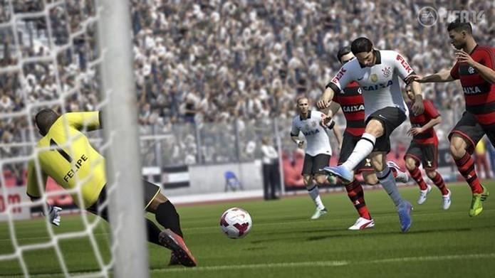 Fifa 15 não trará times brasileiros ou jogadores que atual por aqui. (Foto: Fifa 14/ Divulgação)