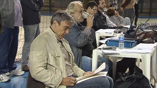 Alexandre Borges e Tanah Corrêa durante o ensaio (Foto: Reprodução/TV Tribuna)