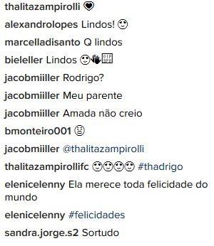 Comentários no post de Thalita Zampirolli (Foto: reprodução/instagram)