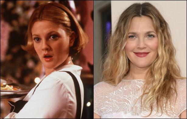 Em 1998, quando tinha 23 anos, Drew Barrymore protagonizou 'Afinado no Amor' (foto) ao lado de Adam Sandler. A parceria com o ator em comédias românticas se repetiu ainda em 2004, com 'Como se Fosse a Primeira Vez', e em 2014, com 'Juntos e Misturados'. A (Foto: Getty Images)