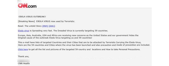 Golpe usa site falso da CNN para disseminar vírus (foto: Divulgação/Symantec)