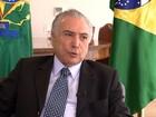 Temer diz que espera inaugurar a nova Ponte do Guaíba no RS