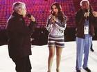 Anitta ensaia para abertura da Olimpíada ao lado de Caetano e Gil